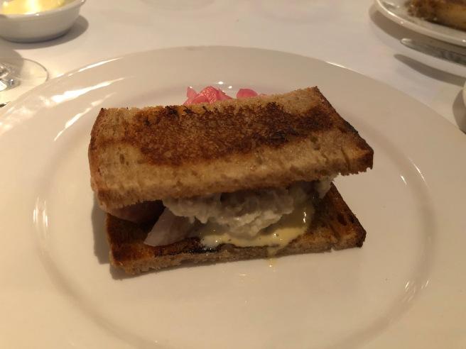 smoked eel sandwich
