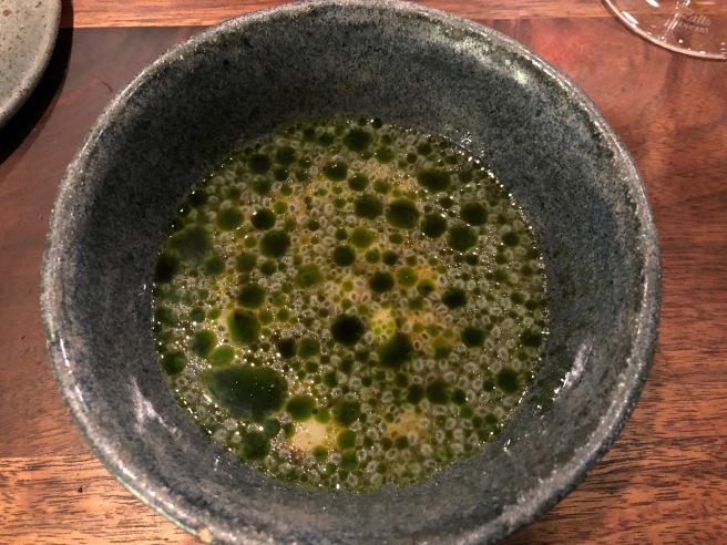 Razor clam - pineapple, basil