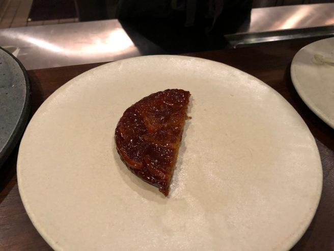 Mandarin tarte tatin - cheese