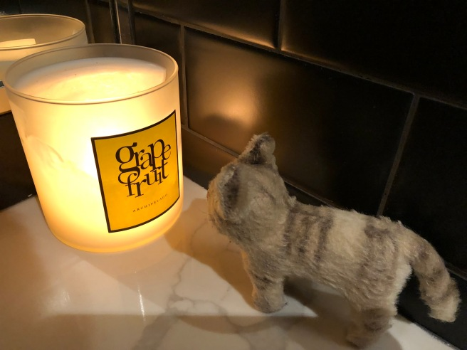 Frankie sniffed the candle
