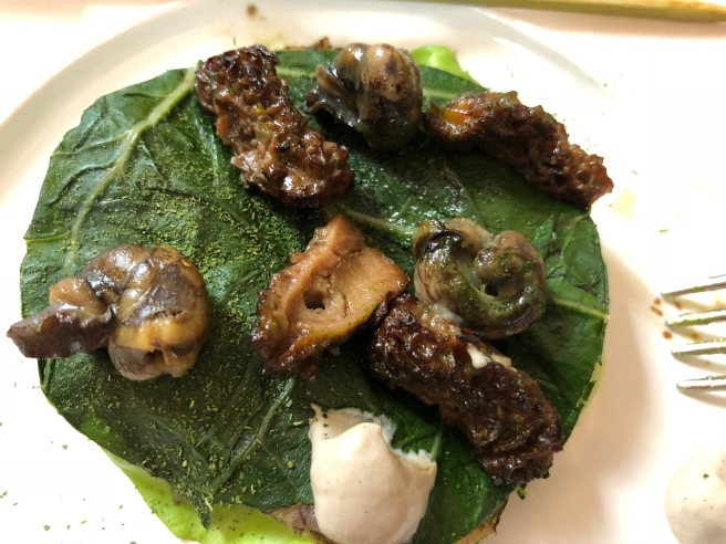 Snails Grilled with Morels and Ramps