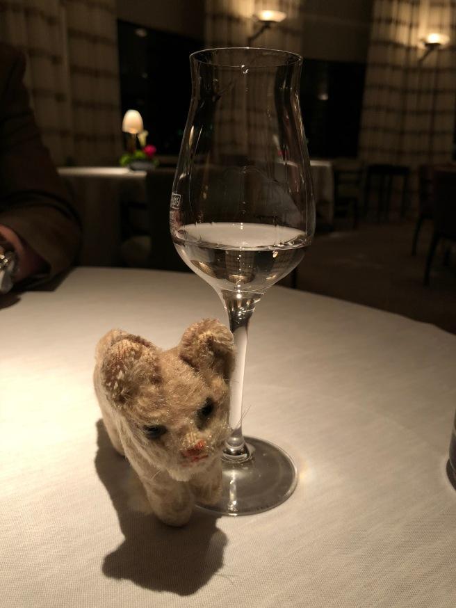 Frankie with my glass