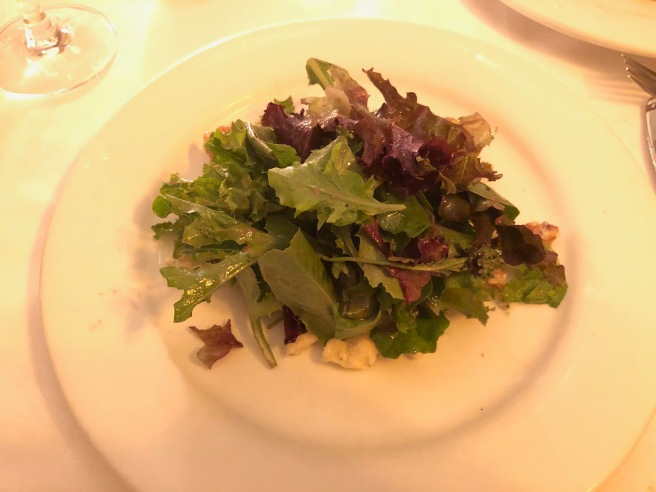 Local organic mixed greens, candied walnuts, stilton, port wine vinaigrette