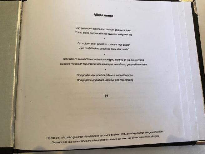 Allure menu