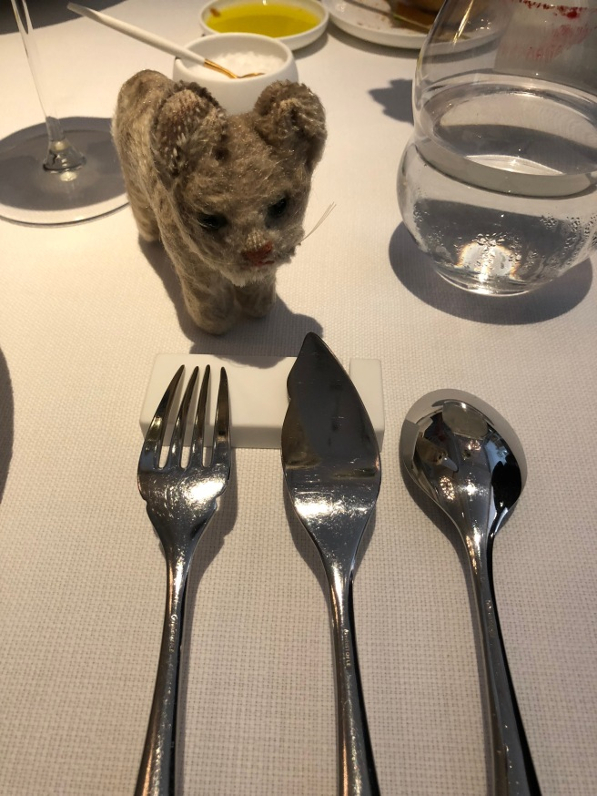 Frankie found her reflection in the flatware