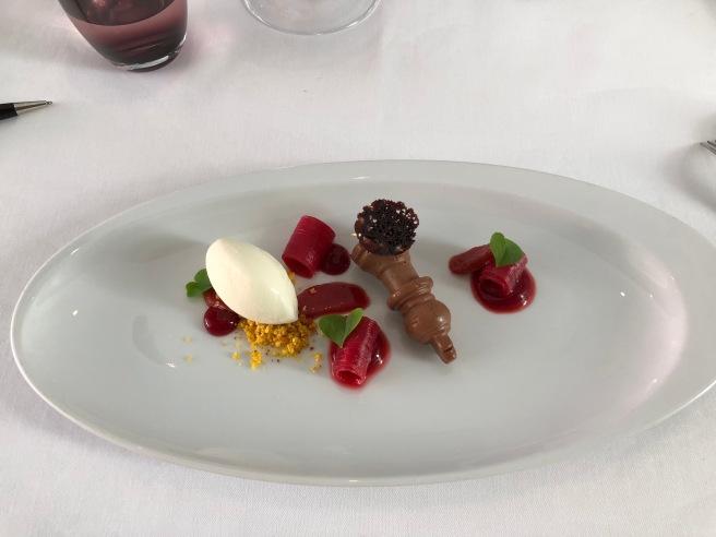 Chessmate: Rhubarb, Centenario chocolate, sour cream
