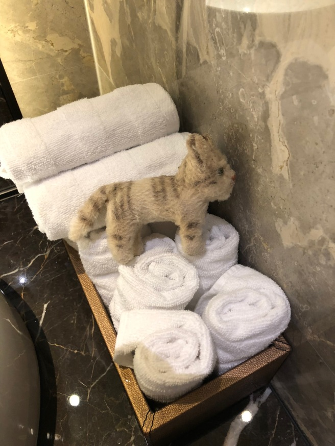 Frankie checked out the hand towels