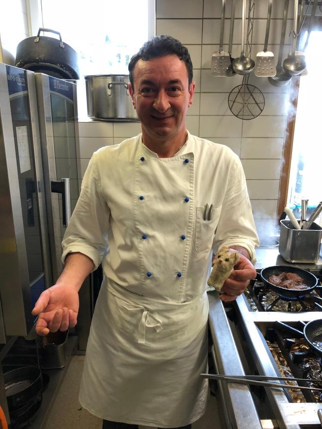 Chef Antonion Sturiale and Frankie