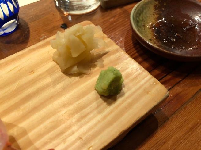ginger, wasabi