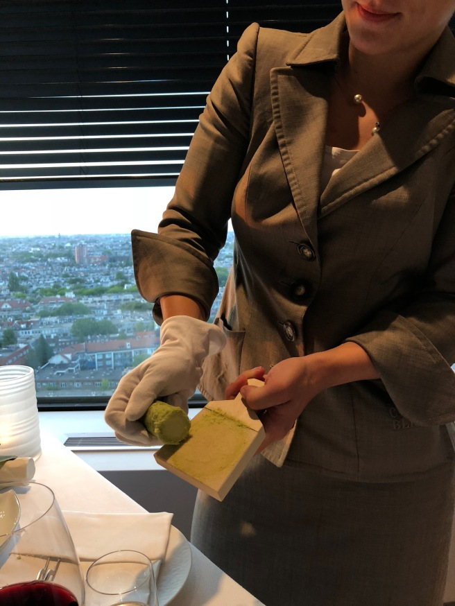 grating fresh wasabi