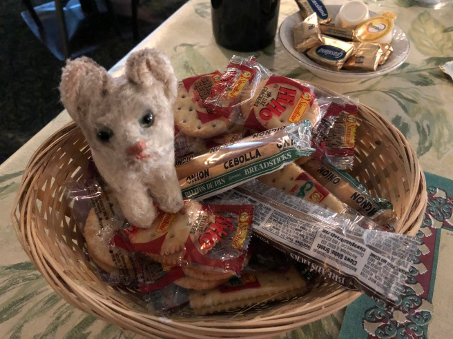 Frankie checked out the variety of crackers