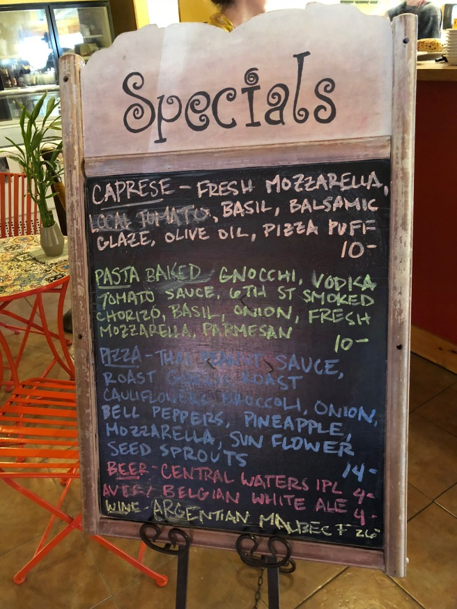 day's specials