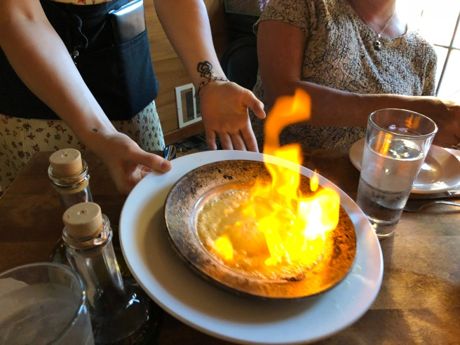 flaming at the table