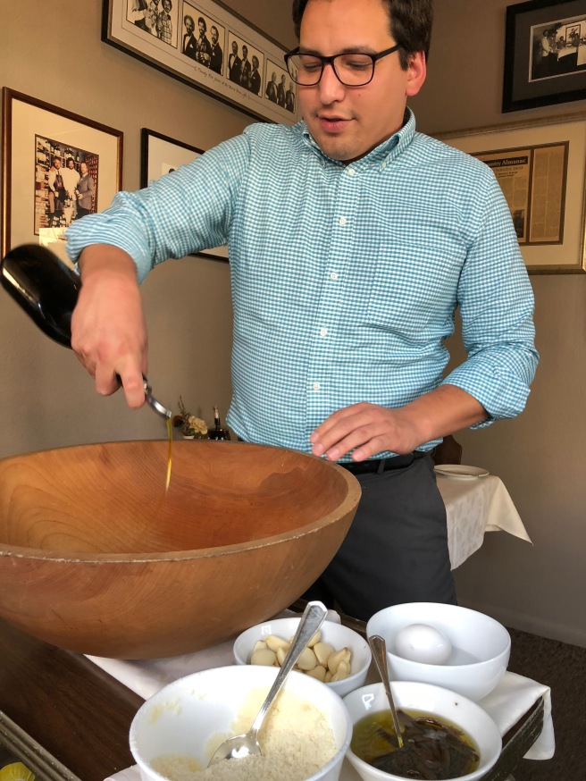 caesar salad preparation