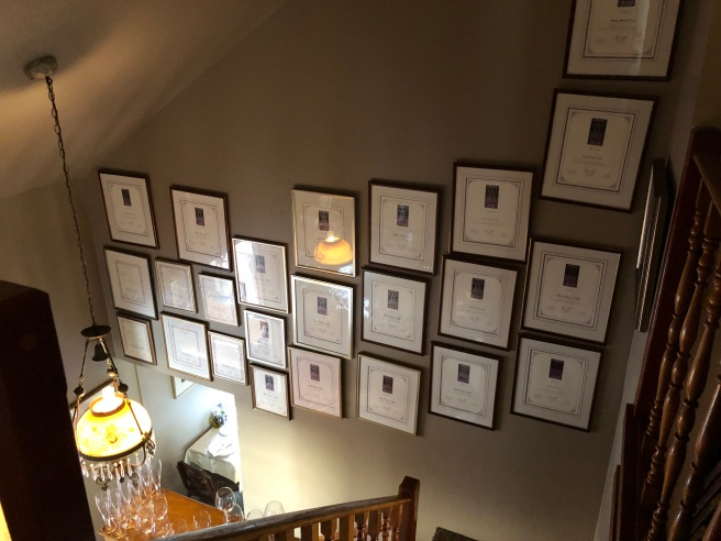 wall of awards