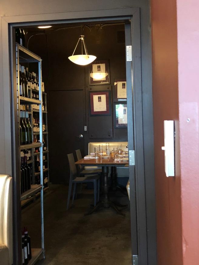 wine room table