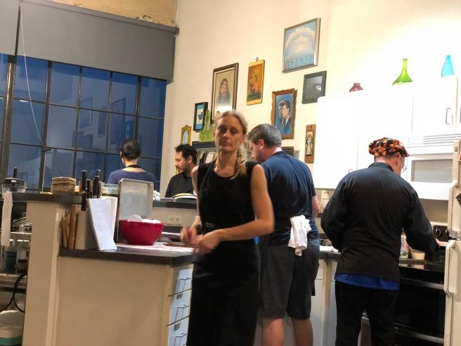 kitchen at work