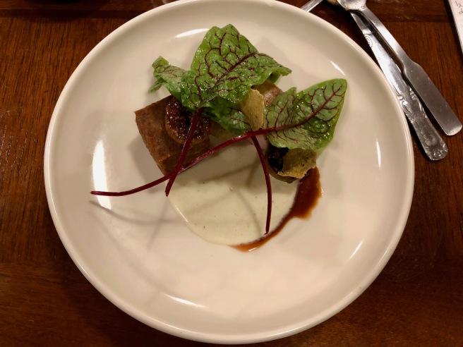 Pork Tenderloin, pressed shoulder, homestead grits, strawberry figs, sorrel