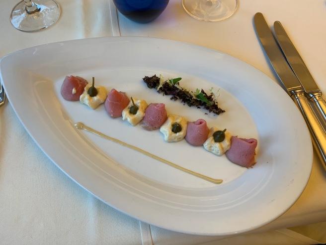 Vitello Tonnato/ Tuna Cream/ Small Seasonal Salad