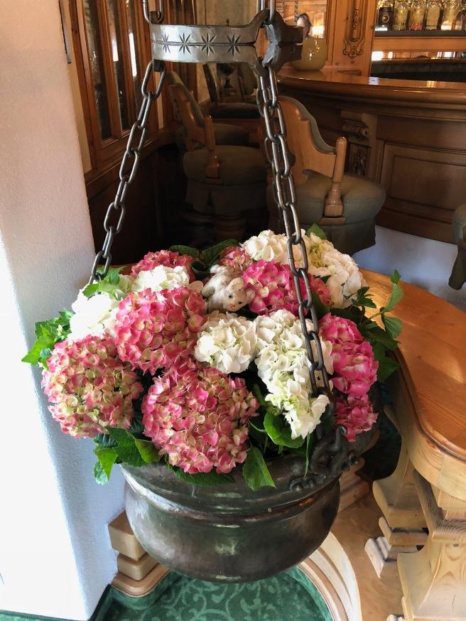 Frankie found a basket of flowers