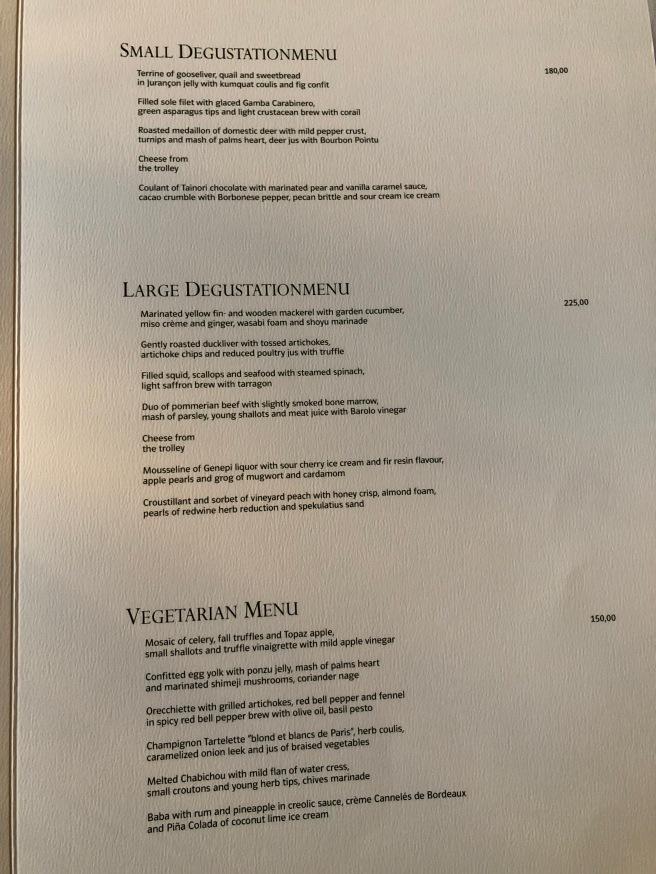 tasting menus