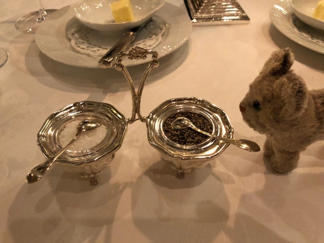 Frankie checked out the salt and pepper