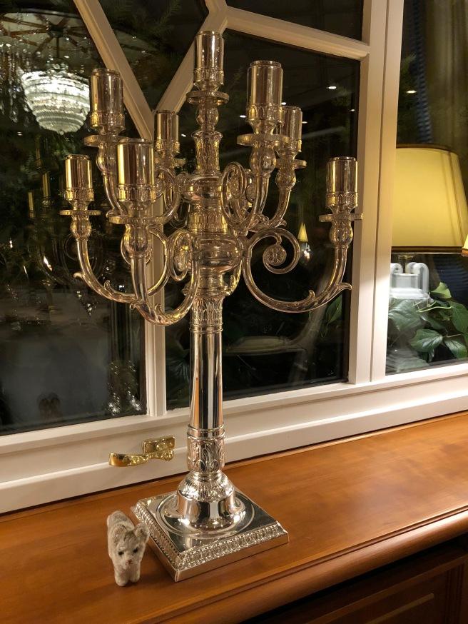 Frankie found a candelabra
