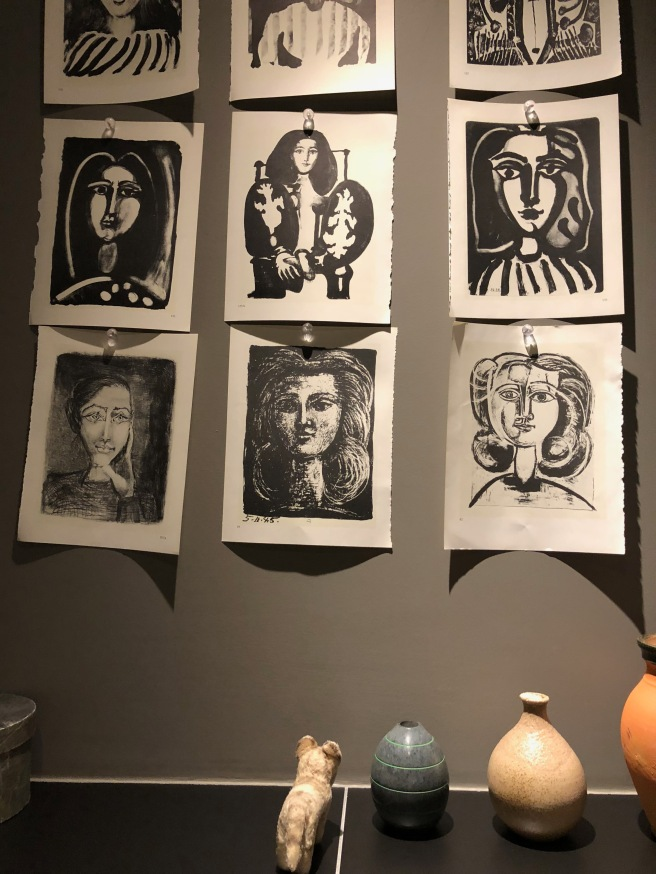 Frankie studied the art