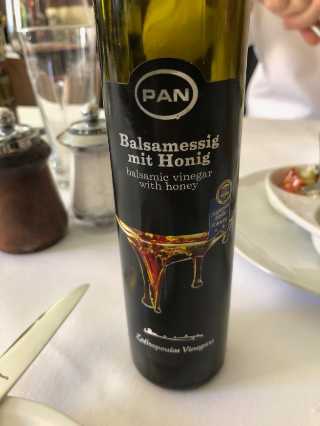 balsmic vinegar with honey