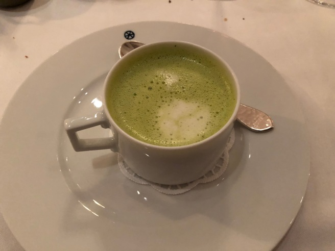 creamy Garden Cress soup, char, horseradish