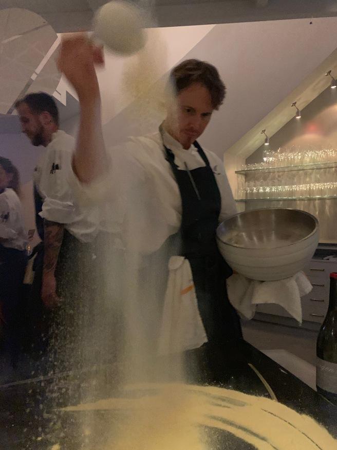 Chef starts dessert