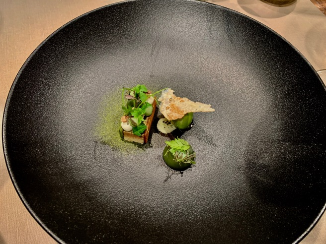 Caramelized Felchlin, Edelweß, parsley, cucumber and ginger ale