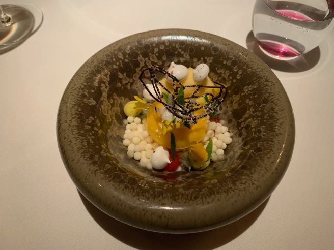 Japanese citrus fruits, coconut and Huacatay