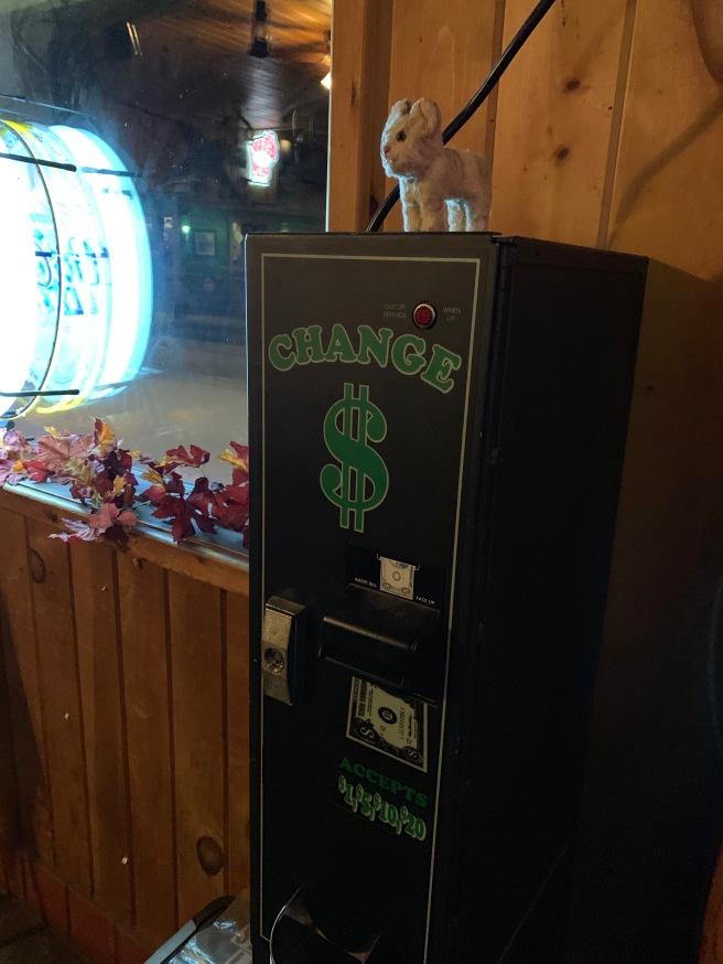 Frnake found achange machine