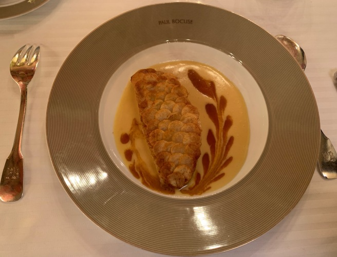 Red Mullet dressed in crusty potato scales