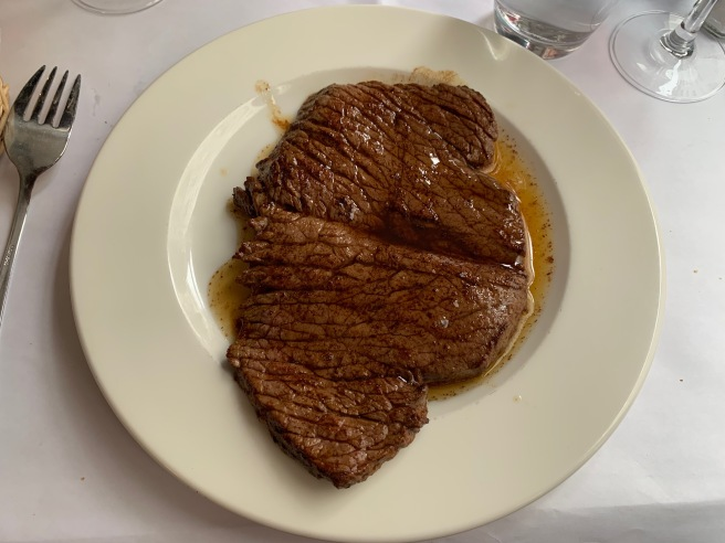 steak with butter sauce