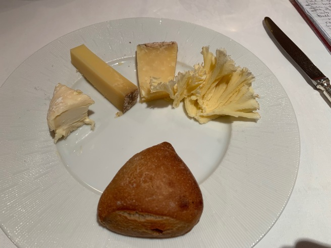 selection of cheese with bread