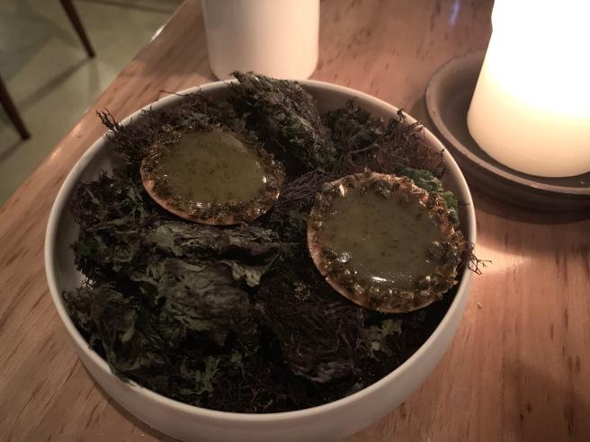 Seaweed caramel tart