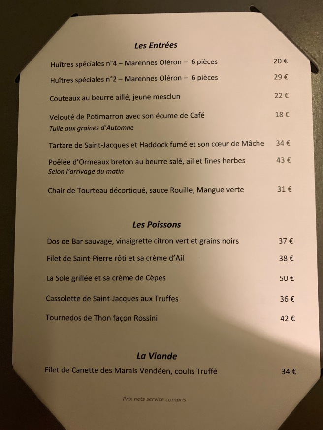 menu 4 French