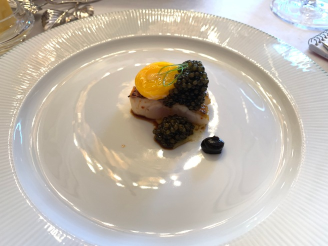 red mullet and caviar