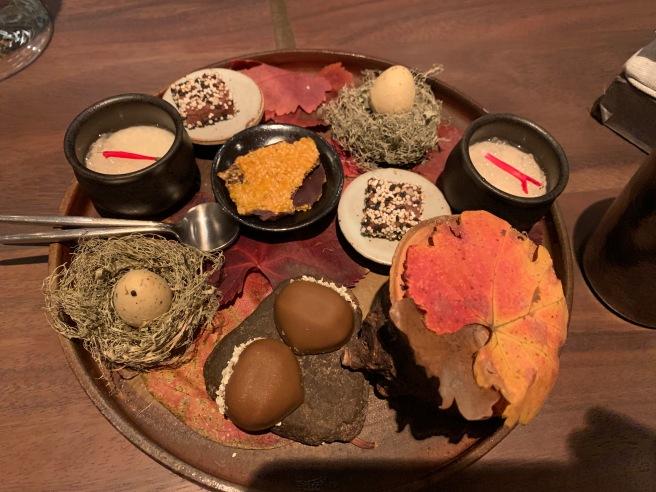 Wagashi: Mulled pinot noir, chestnut cream, rosemary, yuzu and cardomom