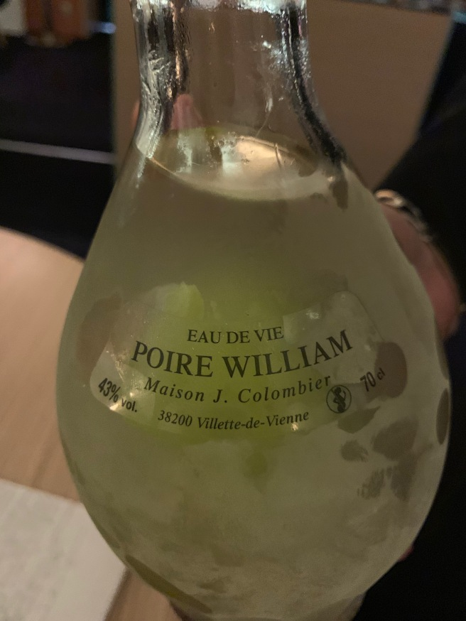 Poire William after dinner