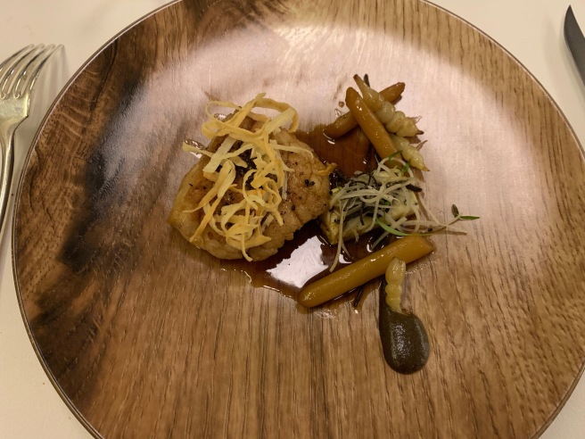 Veal Sweetbreads, salsify, tuber, Old Madeira wine sauce