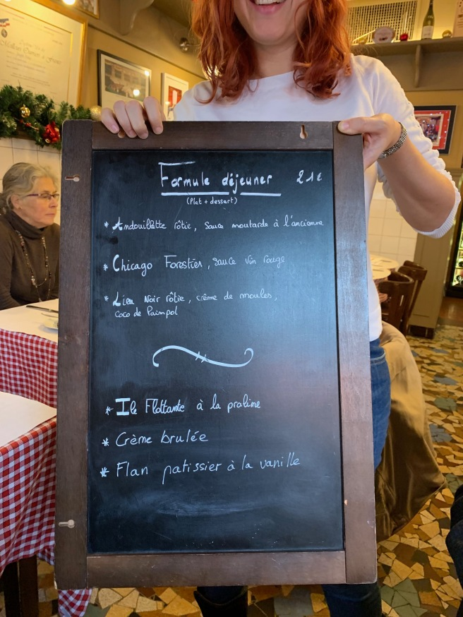 chalkboard set menu