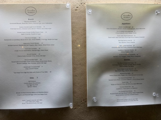 menus outside