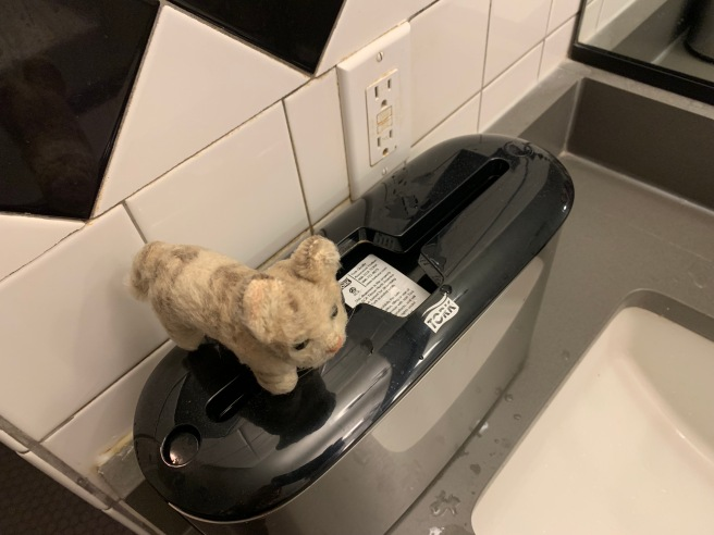 Frankie said the dispenser was empty