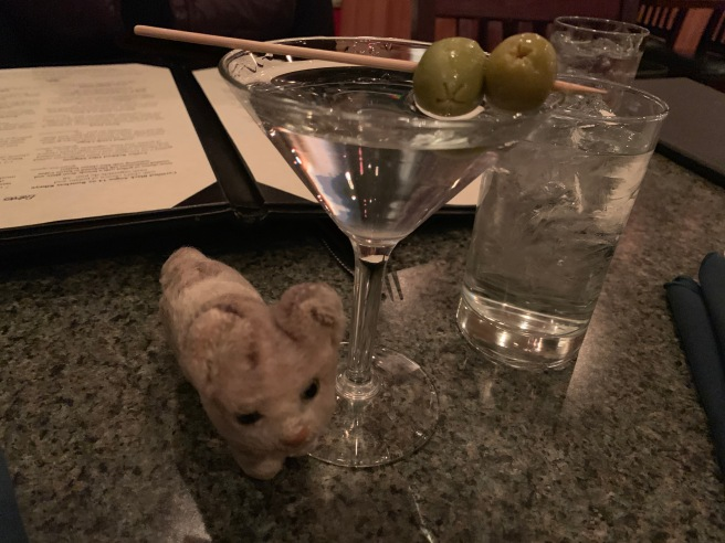 Frankie enjoyed a martini