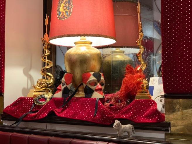 Frankie found carnival decorations
