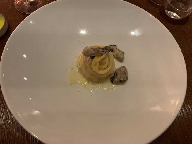 pasta and oyster