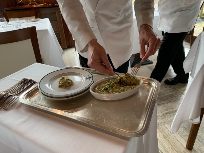 risotto plated tableside